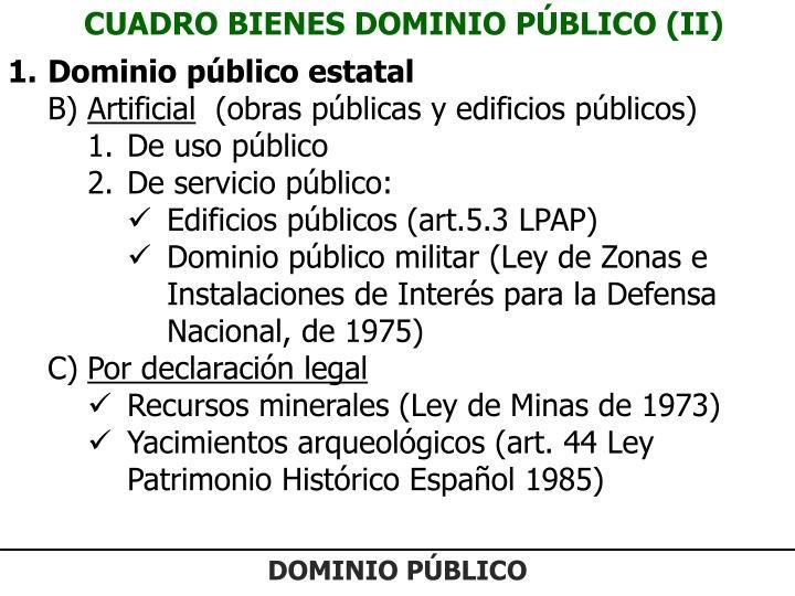 CUADRO BIENES DOMINIO PÚBLICO (II)