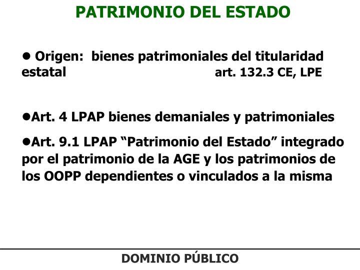 PATRIMONIO DEL ESTADO