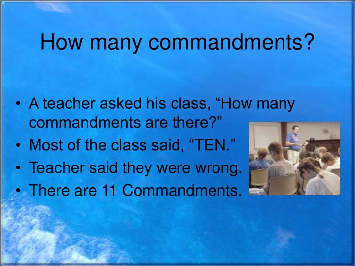 How many commandments?