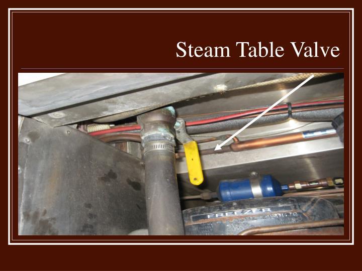 Steam Table Valve