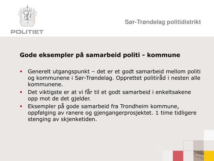 Gode eksempler på samarbeid politi - kommune