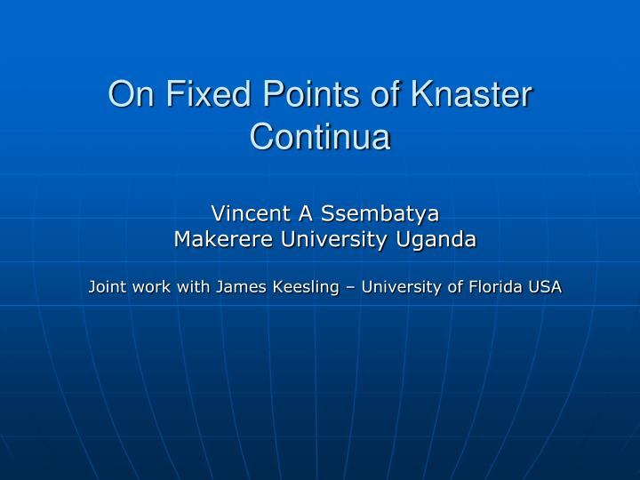 on fixed points of knaster continua
