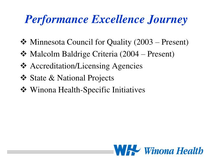 Performance Excellence Journey