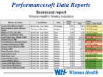 performancesoft data reports