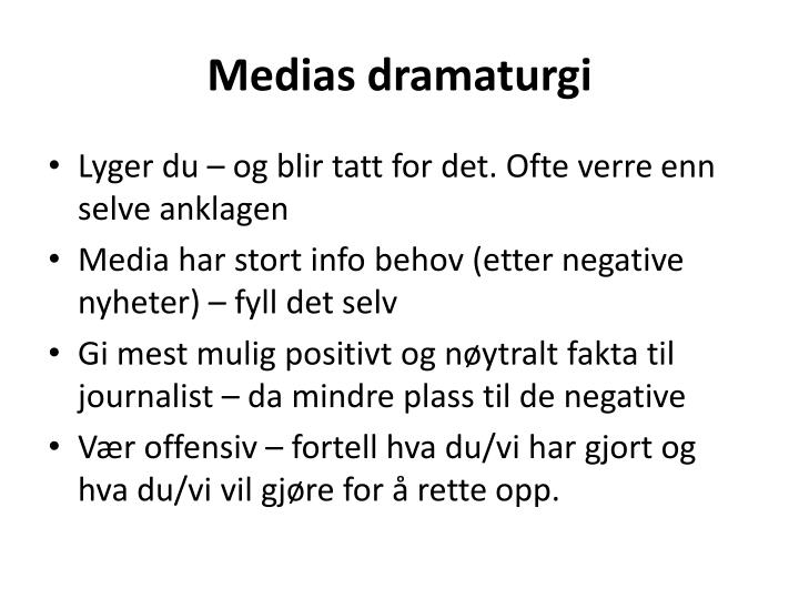 Medias dramaturgi