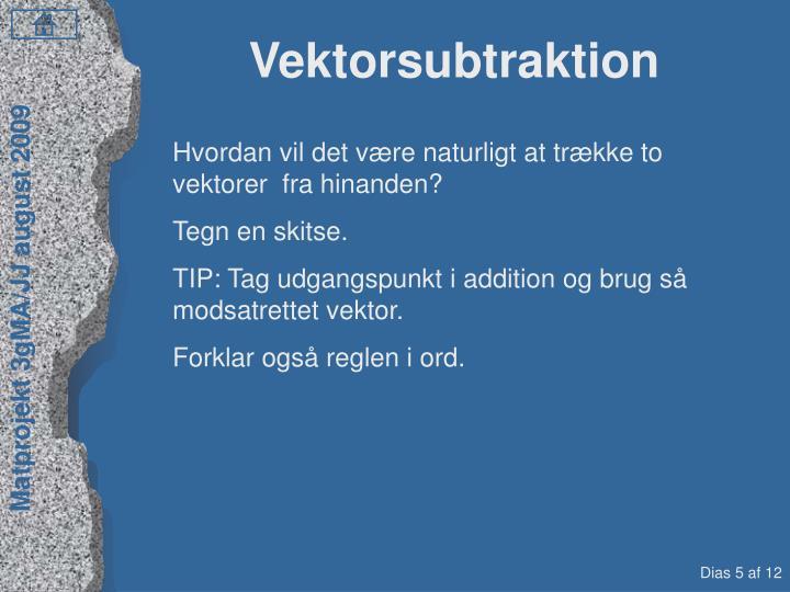Vektorsubtraktion