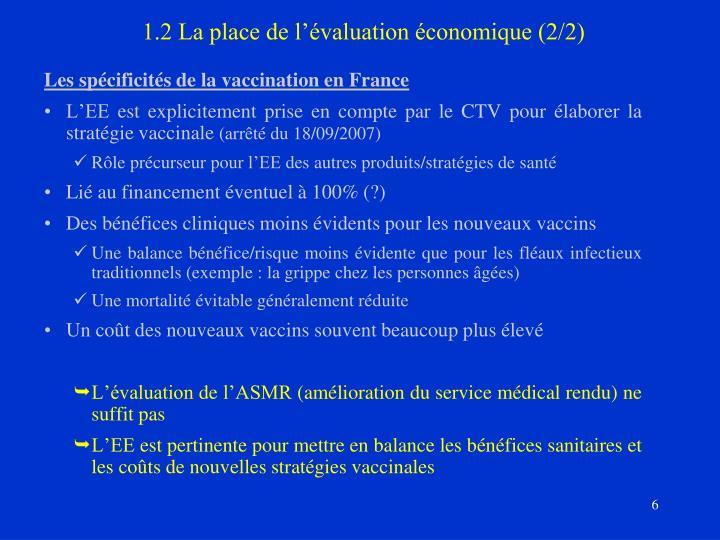 1.2 La place de l'évaluation économique (2/2)