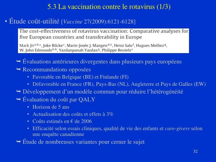 5.3 La vaccination contre le rotavirus (1/3)