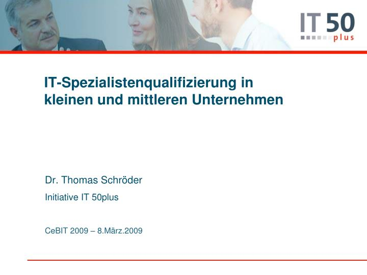 IT-Spezialistenqualifizierung in kleinen und mittleren Unternehmen