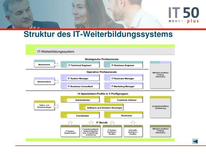 Struktur des IT-Weiterbildungssystems