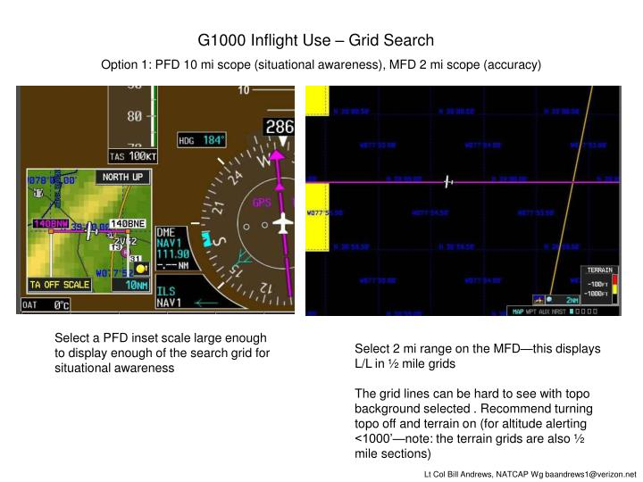 G1000 Inflight Use – Grid Search