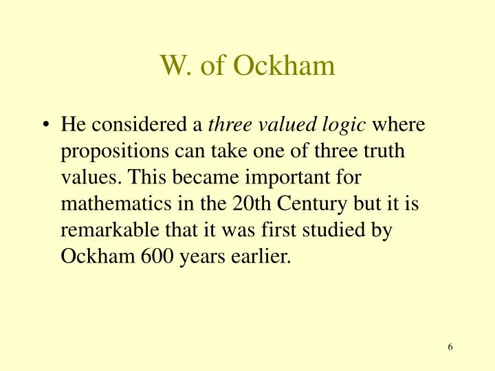 W. of Ockham
