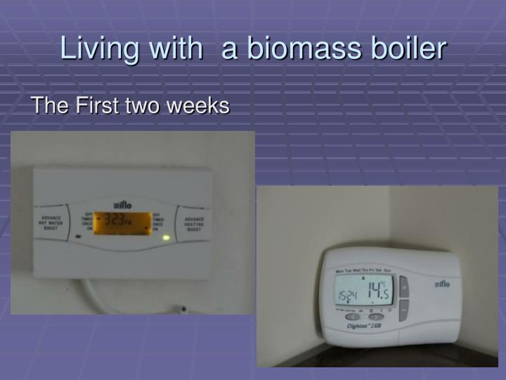 Living with  a biomass boiler