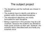 the subject project