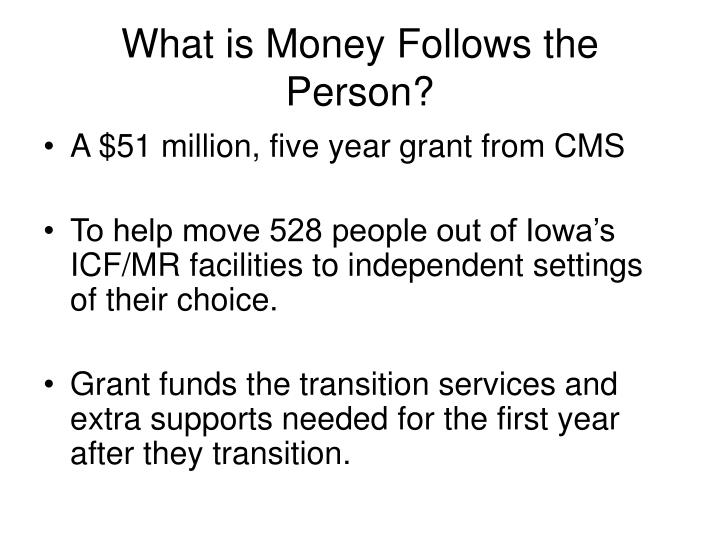 What is Money Follows the Person?
