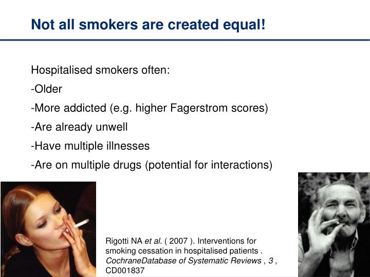 Not all smokers are created equal!