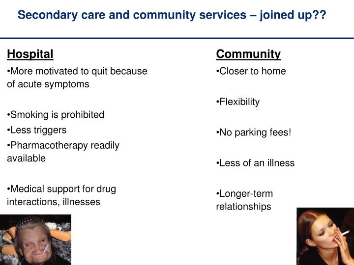 Secondary care and community services – joined up??