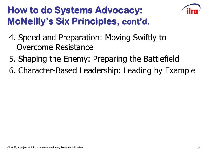 How to do Systems Advocacy: