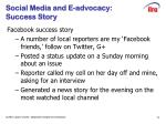 social media and e advocacy success story