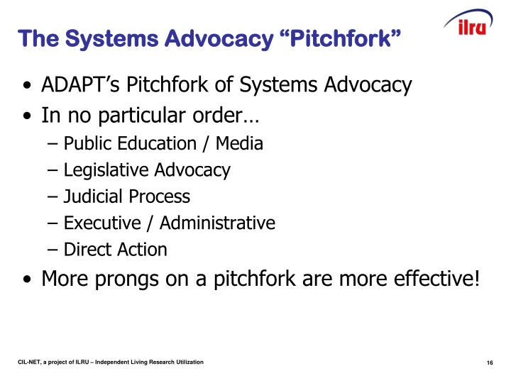 "The Systems Advocacy ""Pitchfork"""