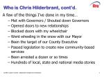 who is chris hilderbrant cont d