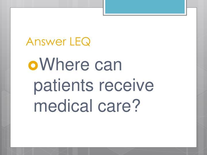Answer LEQ