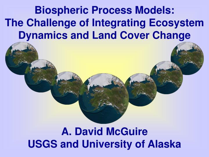 Biospheric Process Models: