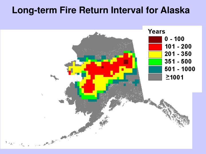 Long-term Fire Return Interval for Alaska