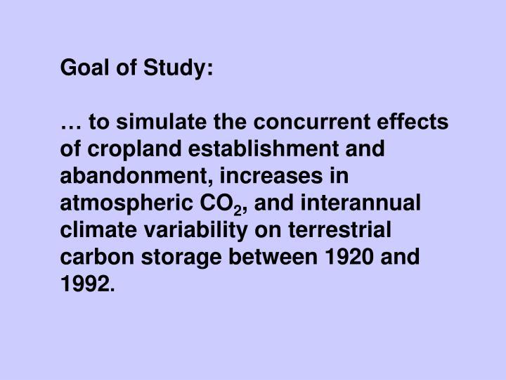 Goal of Study: