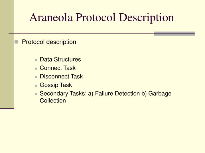 Araneola Protocol Description