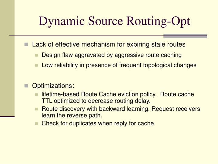 Dynamic Source Routing-Opt