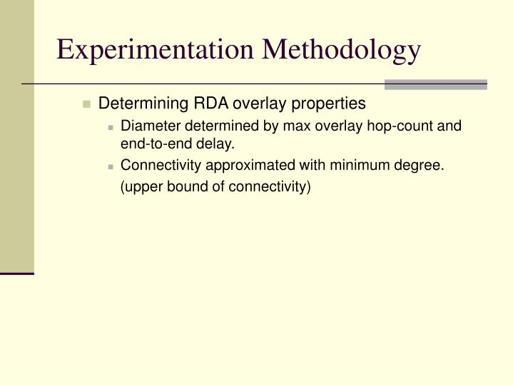 Experimentation Methodology