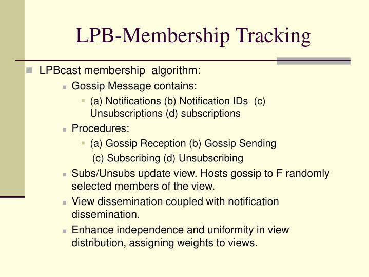 LPB-Membership Tracking