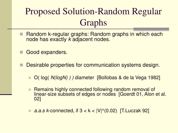 Proposed Solution-Random Regular Graphs