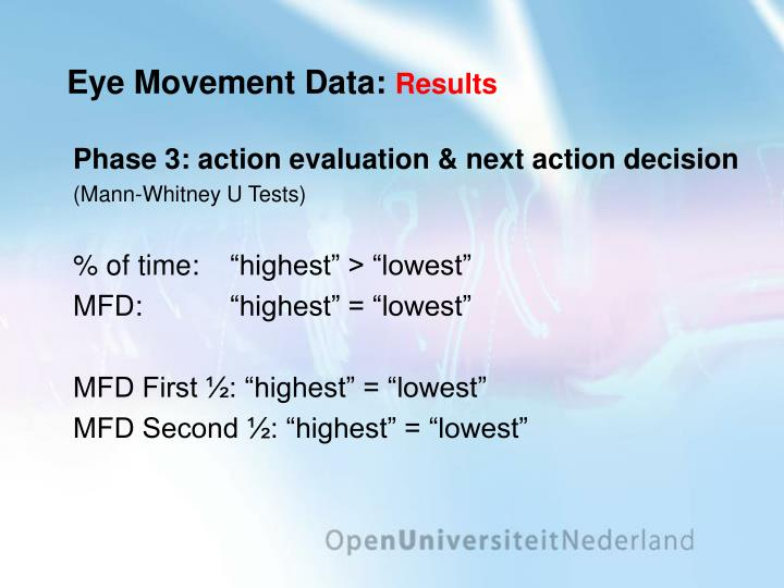 Eye Movement Data: