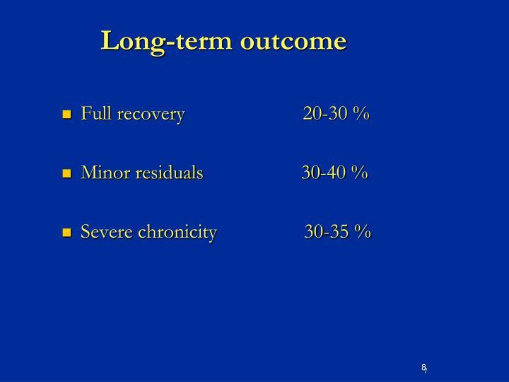 Long-term outcome