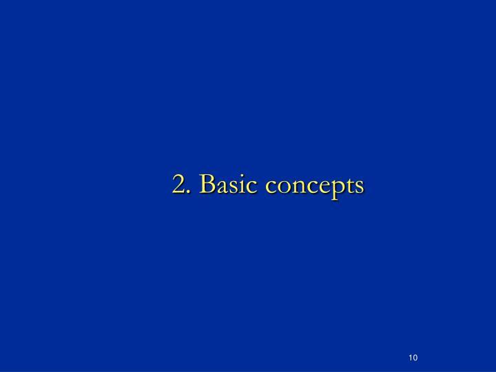 2. Basic concepts
