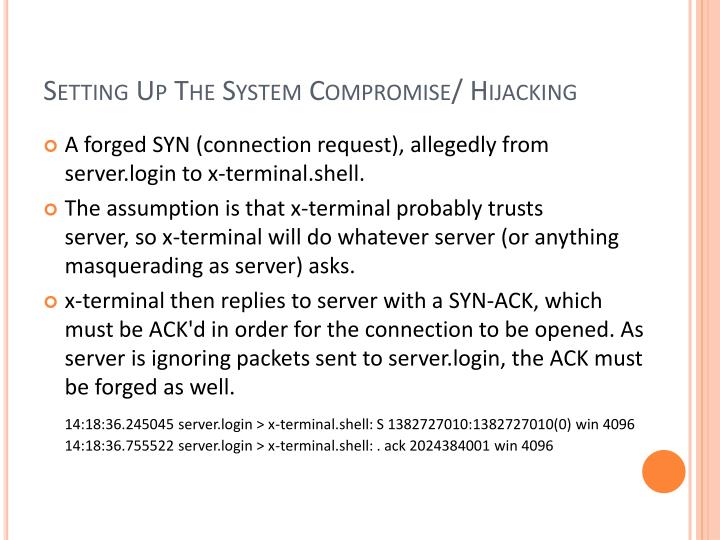 Setting Up The System Compromise/ Hijacking