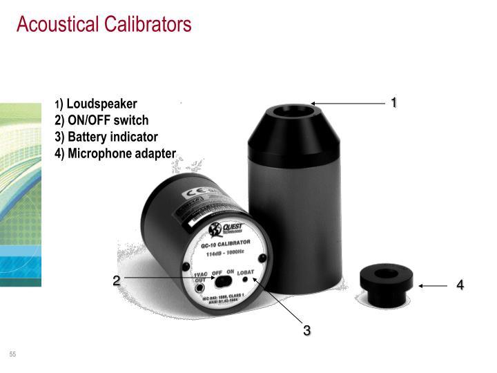Acoustical Calibrators
