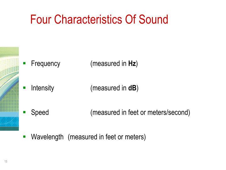 Four Characteristics Of Sound