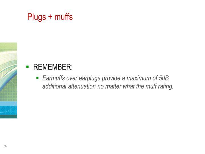 Plugs + muffs