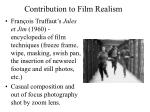 contribution to film realism12