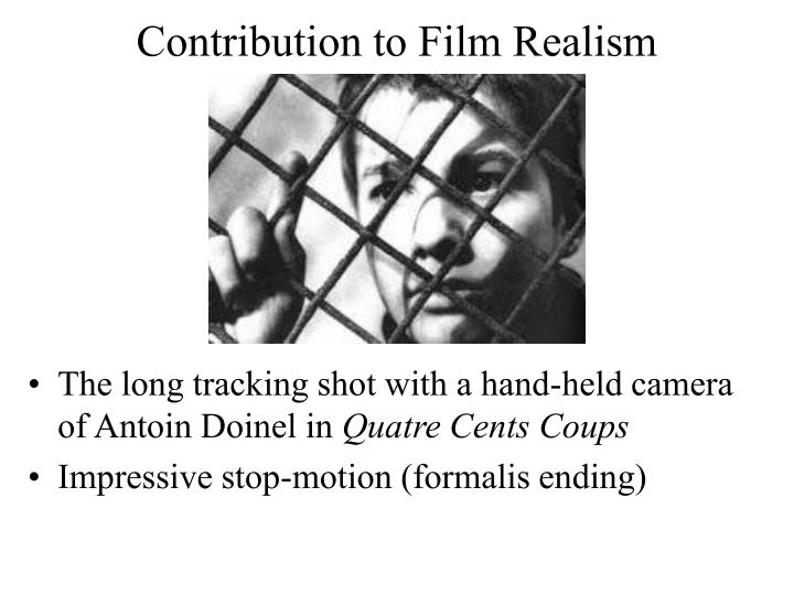 Contribution to Film Realism