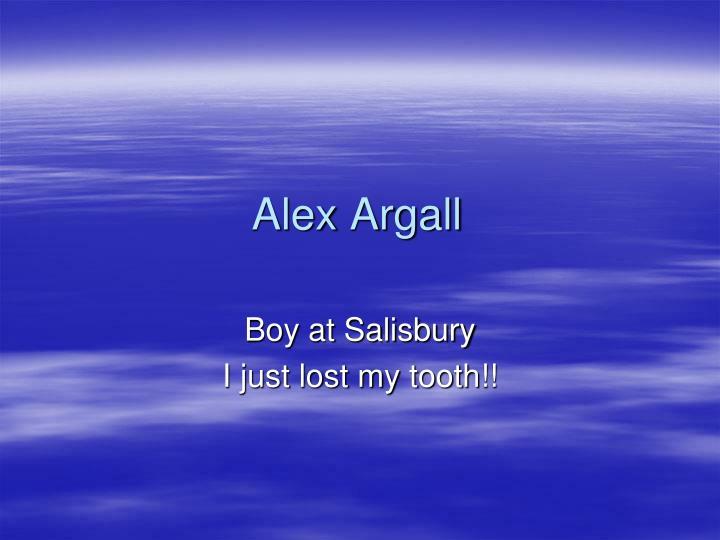 Alex Argall