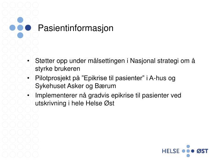 Pasientinformasjon