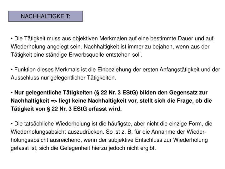 NACHHALTIGKEIT:
