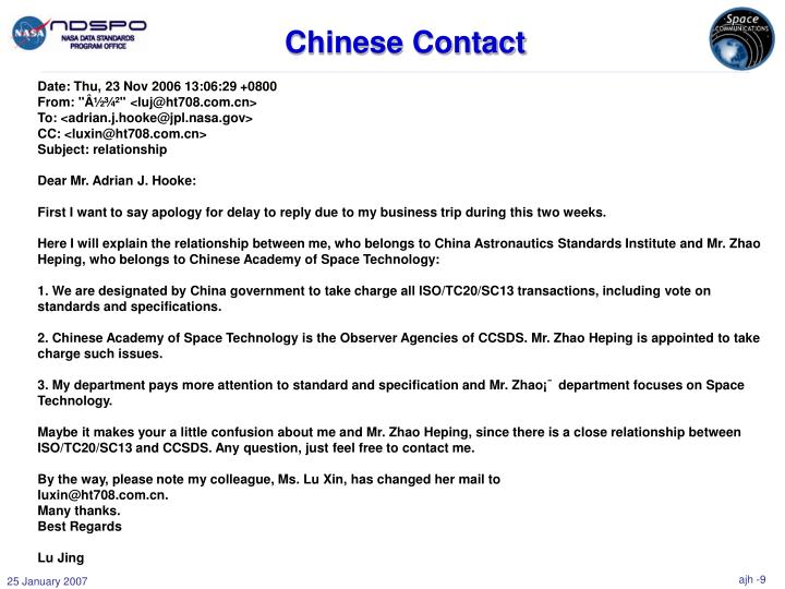 Chinese Contact