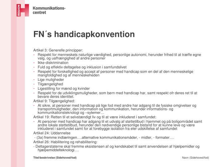 FN´s handicapkonvention