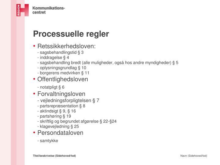 Processuelle regler