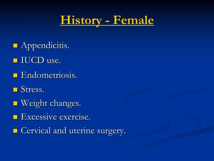 History - Female